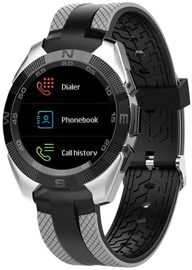 """Смарт-часы JET Sport SW-7,  55мм,  1.54"""",  серый / серый [sw-7 grey]"""