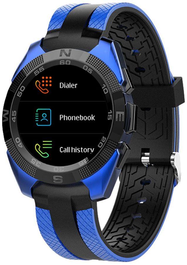 """Смарт-часы JET Sport SW-7,  55мм,  1.54"""",  синий / синий [sw-7 blue]"""