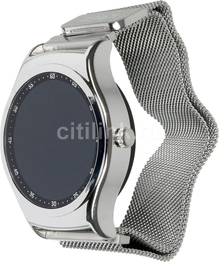 """Смарт-часы KREZ Pro S,  43.6мм,  1.3"""",  серебристый / серебристый [sw18]"""