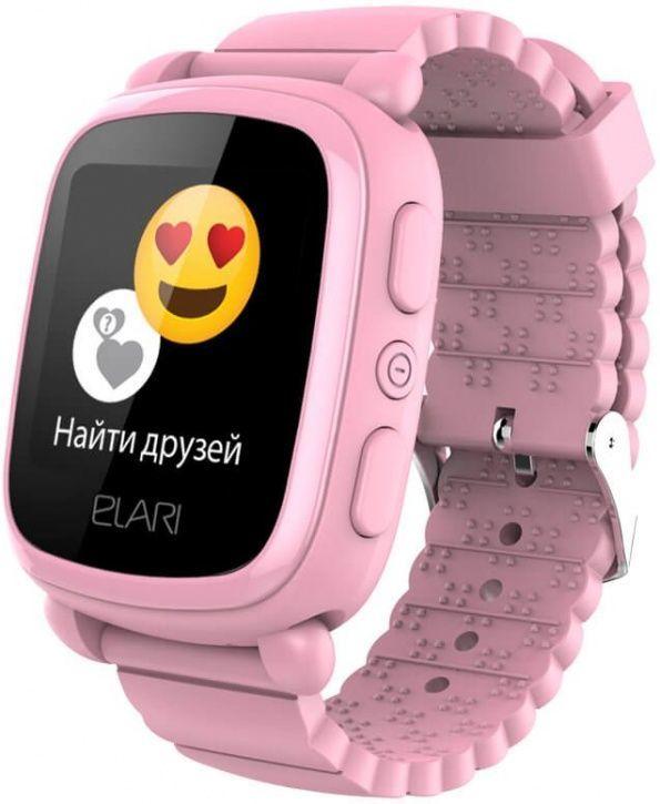 """Смарт-часы ELARI KidPhone 2,  15мм,  1.4"""",  розовый / розовый"""