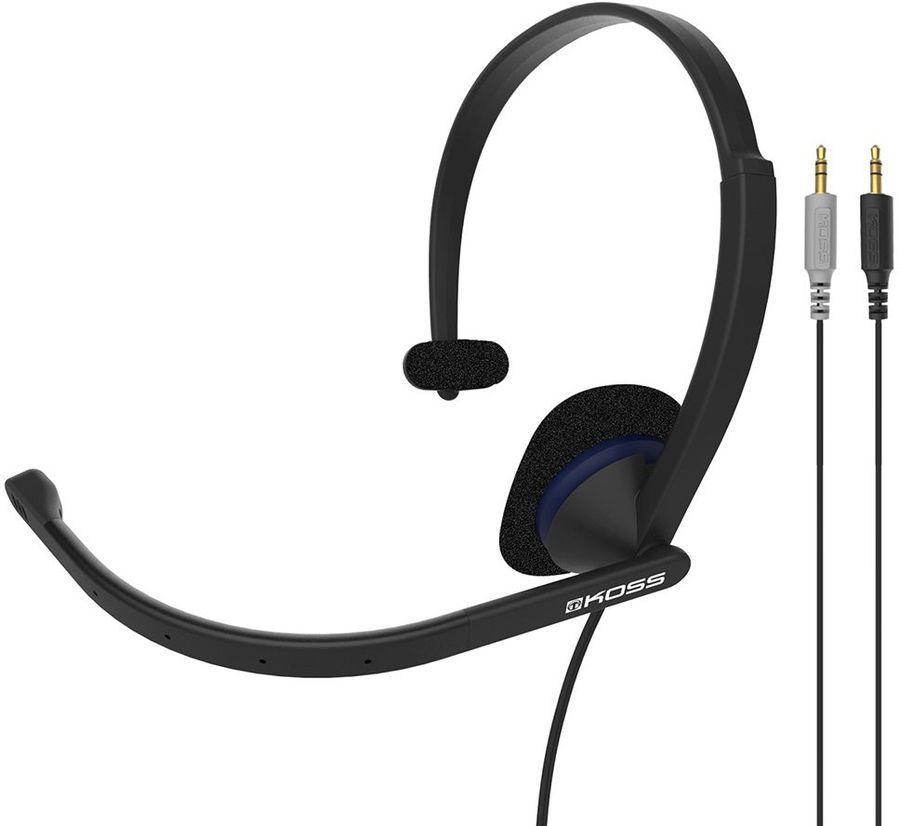 Гарнитура KOSS CS195,  для контактных центров, накладные,  черный