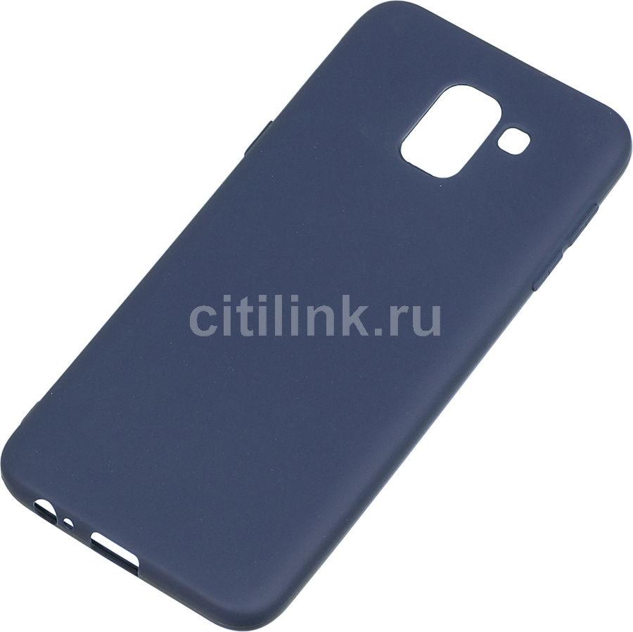 Чехол (клип-кейс)  Gresso Meridian, для Samsung Galaxy J6 (2018), темно-синий [gr17mrn115]