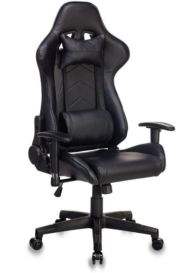 Кресло игровое БЮРОКРАТ СН-787, на колесиках, искусственная кожа, черный [сн-787/black]