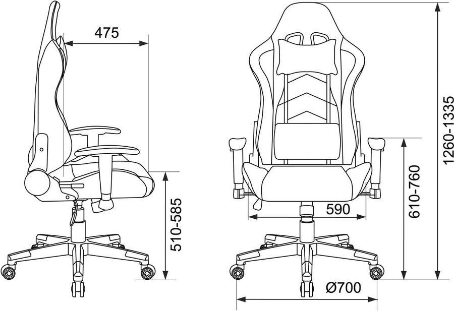 Кресло игровое БЮРОКРАТ СН-787, на колесиках, искусственная кожа, черный/оранжевый [сн-787/bl+or]
