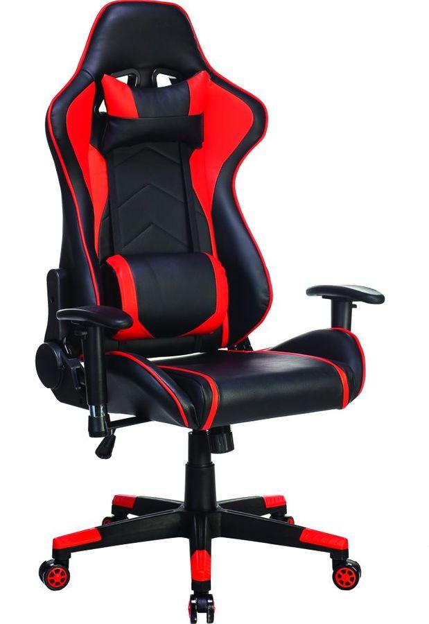 Кресло игровое БЮРОКРАТ СН-787, на колесиках, искусственная кожа, черный/красный [сн-787/bl+r]