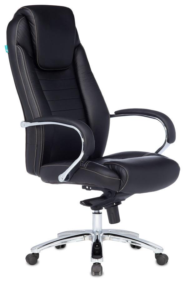 Кресло руководителя БЮРОКРАТ T-9923SL, на колесиках, кожа [t-9923sl/black]