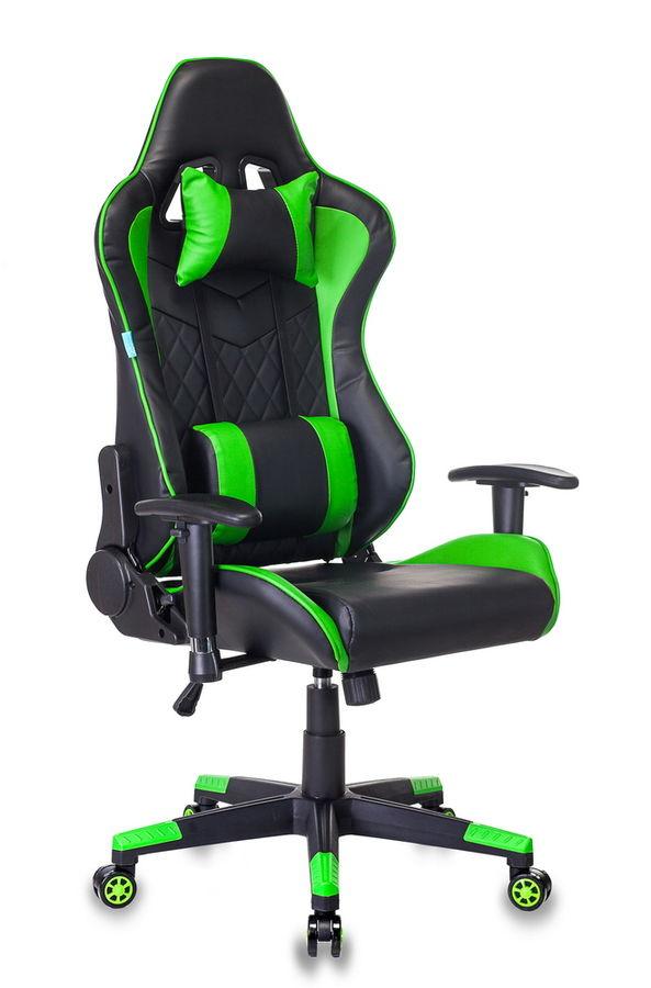 Кресло игровое БЮРОКРАТ СН-788, на колесиках, искусственная кожа [сн-788/bl+gr]