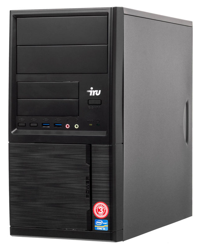 Компьютер  IRU Office 312,  Intel  Pentium  G5400,  DDR4 4Гб, 240Гб(SSD),  Intel UHD Graphics 610,  Windows 10 Professional,  черный [1122596]