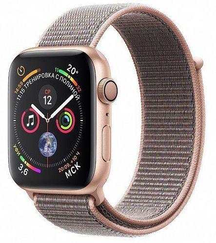 Смарт-часы APPLE Watch Series 4 40мм,  золотистый / розовый [mu692/a]