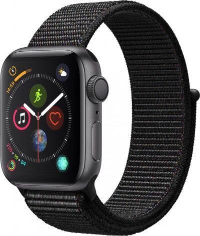 Смарт-часы APPLE Watch Series 4 40мм,  темно-серый / черный [mu672/a]
