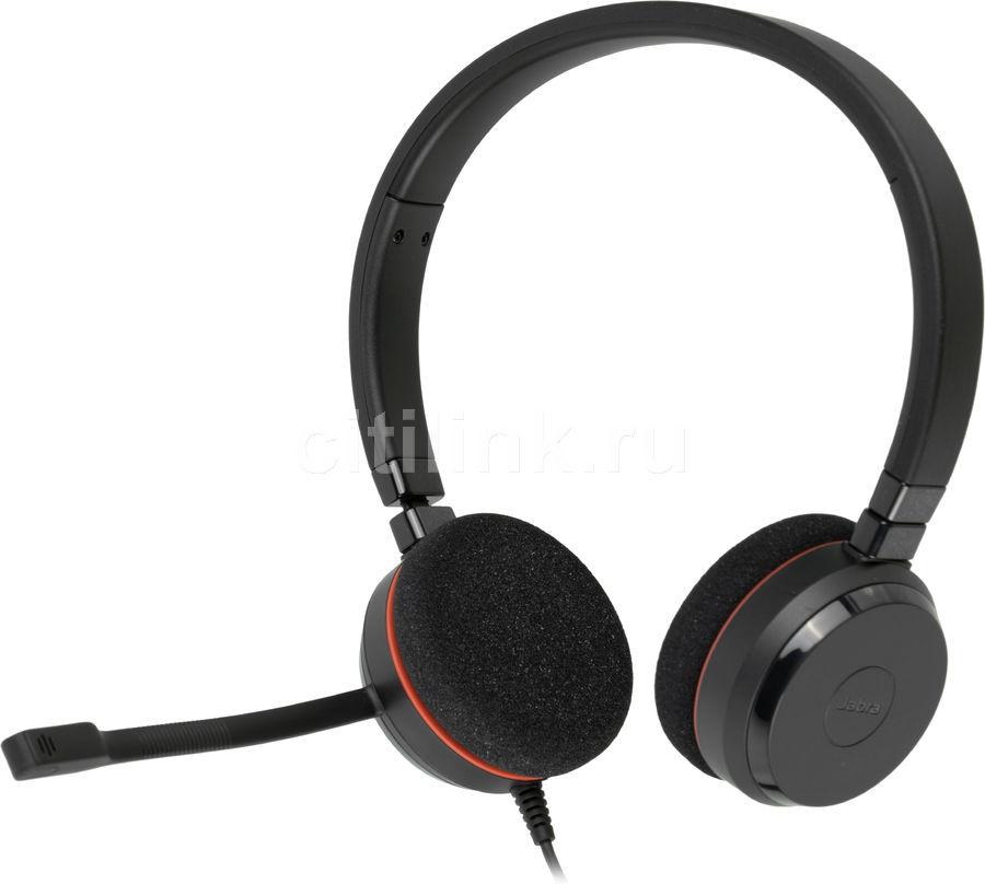 Наушники с микрофоном JABRA Evolve 20 MS,  накладные, черный  [4999-823-109]