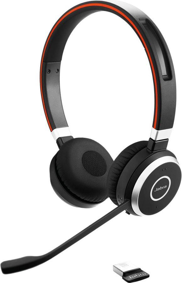 Гарнитура JABRA Evolve 65 MS,  для контактных центров, накладные,  bluetooth, черный  [6599-823-309]