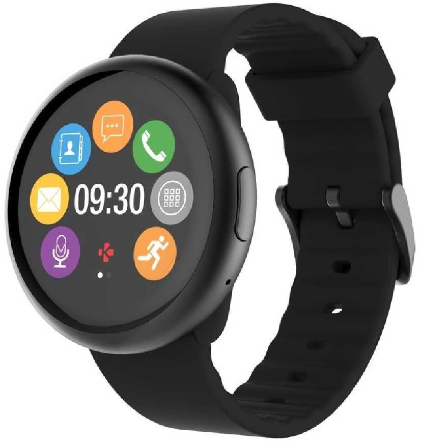 "Смарт-часы MYKRONOZ ZeRound2,  12.8мм,  1.22"",  черный / черный [krzeround2-black]"