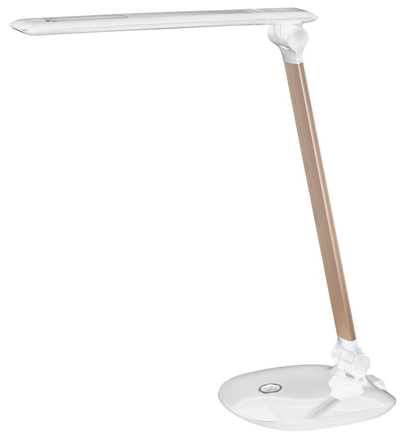 Светильник настольный ЭРА NLED-456-10W-W-G на подставке,  10Вт,  белый [б0028436]