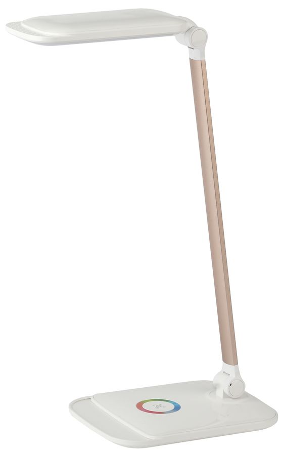 Светильник настольный ЭРА NLED-460-14W-W-G на подставке,  14Вт,  белый [б0028438]