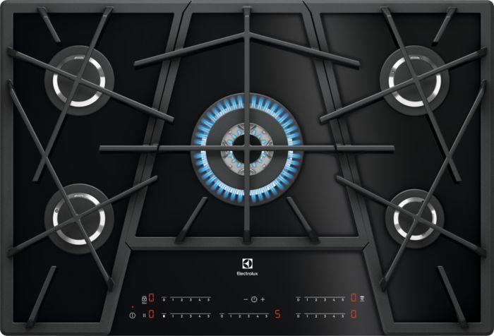 Варочная панель ELECTROLUX KGV7539IK,  независимая,  черный