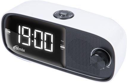 Радиобудильник RITMIX RRC-090, белая подсветка,  белый