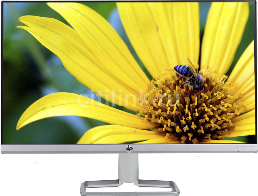 """Монитор HP 23.8"""" 24fw серебристый/черный IPS 16:9 HDMI M/M 1000:1 300cd (плохая упаковка)"""
