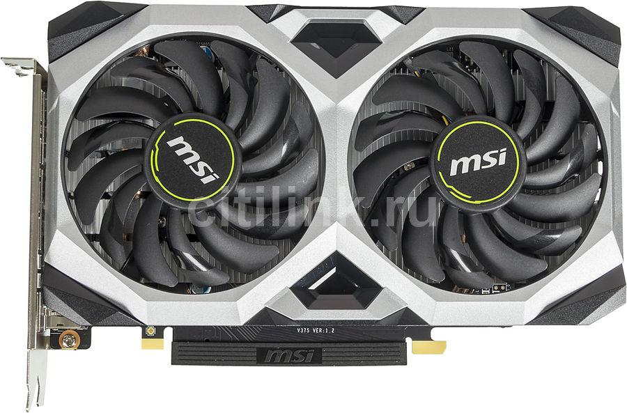 Видеокарта MSI nVidia  GeForce GTX 1660TI ,  GTX 1660 Ti VENTUS XS 6G OC,  6Гб, GDDR6, OC,  Ret