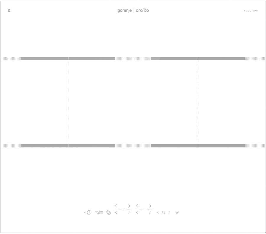 Индукционная варочная панель GORENJE IT646ORAW,  индукционная,  независимая,  белый