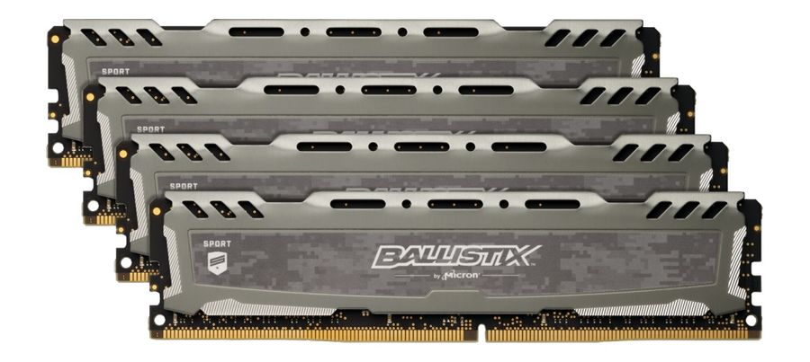 Модуль памяти CRUCIAL Ballistix Sport LT BLS4K16G4D30AESB DDR4 -  4x 16Гб 3000, DIMM,  Ret