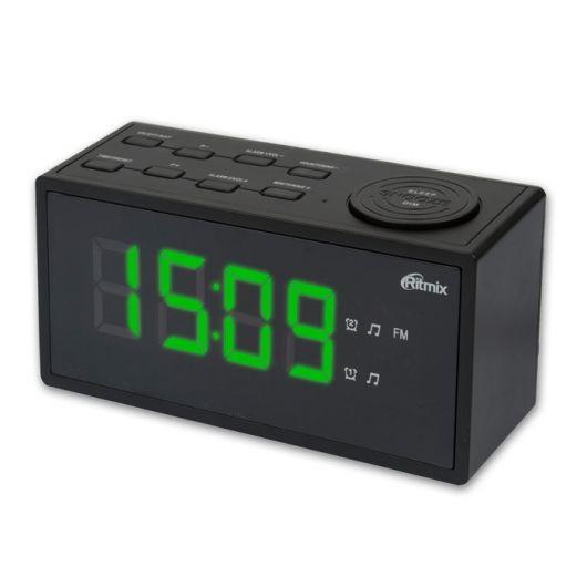 Радиобудильник RITMIX RRC-1212, зеленая подсветка,  черный