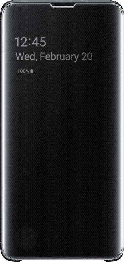 Чехол (флип-кейс) SAMSUNG Clear View Cover, для Samsung Galaxy S10, черный [ef-zg973cbegru]