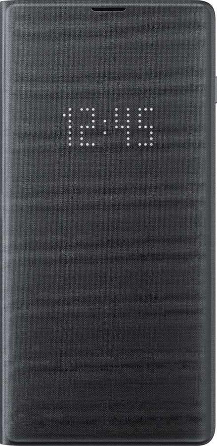 Чехол (флип-кейс) SAMSUNG LED View Cover, для Samsung Galaxy S10+, черный [ef-ng975pbegru]