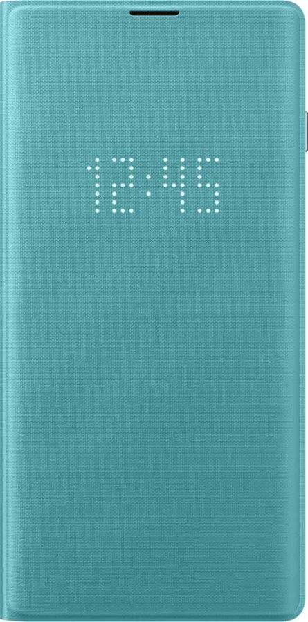 Чехол (флип-кейс) SAMSUNG LED View Cover, для Samsung Galaxy S10, зеленый [ef-ng973pgegru]