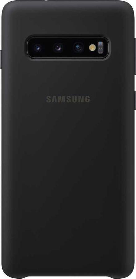 Чехол (клип-кейс) SAMSUNG Silicone Cover, для Samsung Galaxy S10, черный [ef-pg973tbegru]