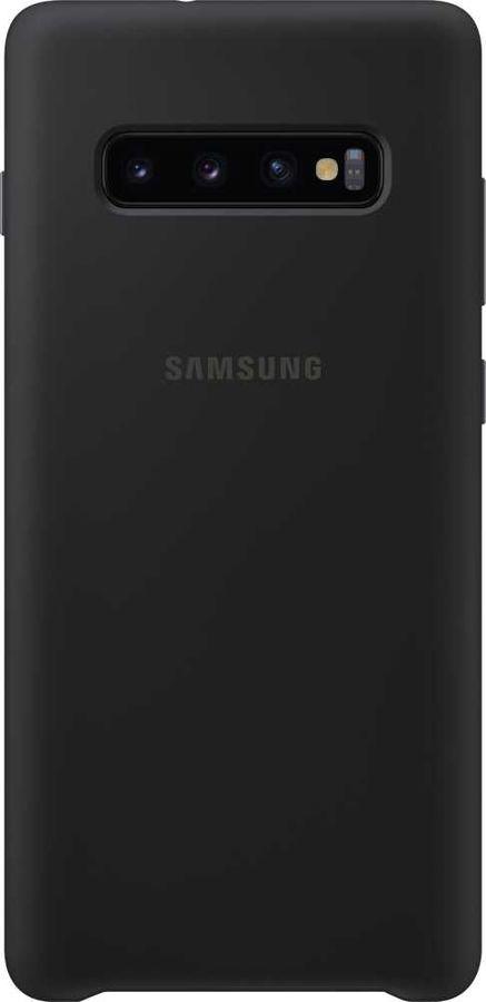 Чехол (клип-кейс) SAMSUNG Silicone Cover, для Samsung Galaxy S10+, черный [ef-pg975tbegru]