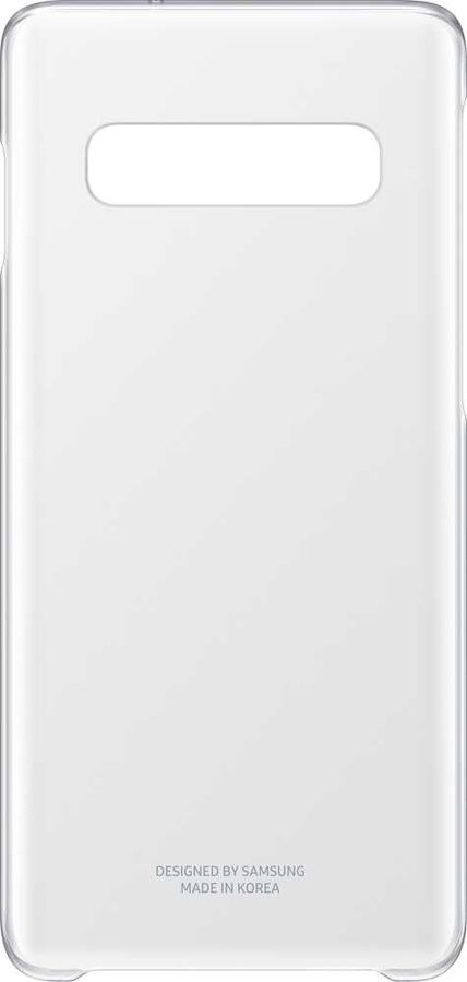 Чехол (клип-кейс) SAMSUNG Clear Cover, для Samsung Galaxy S10, прозрачный [ef-qg973ctegru]