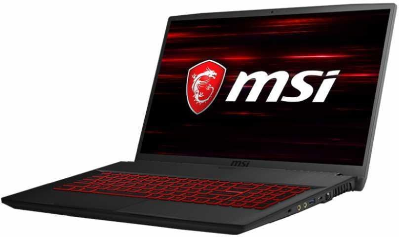 Ноутбук MSI GF75 Thin 8RC-206RU, 9S7-17F112-206,  черный