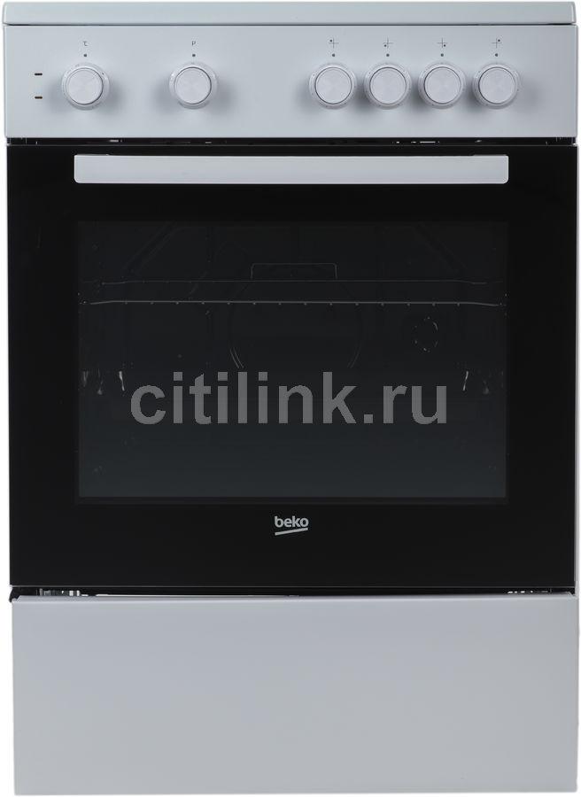 Электрическая плита BEKO FFSS67000W,  стеклокерамика,  белый/черный