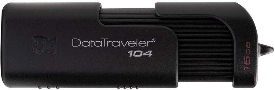 Флешка USB KINGSTON DataTraveler 104 16Гб, USB2.0, черный [dt104/16gb]