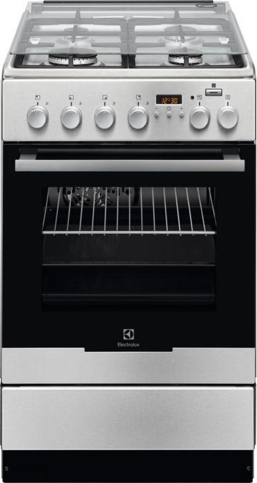 Газовая плита ELECTROLUX EKK954904X,  электрическая духовка,  нержавеющая сталь