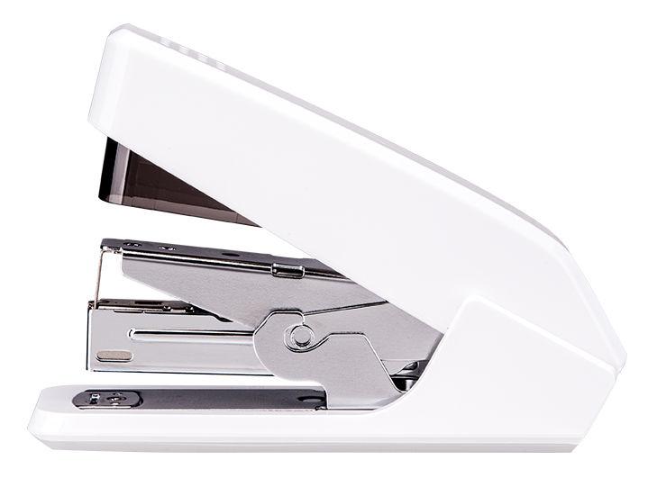 Степлер настольный Deli E0467WHITE Pro 24/6 26/6 (30листов) встроенный антистеплер белый 100скоб
