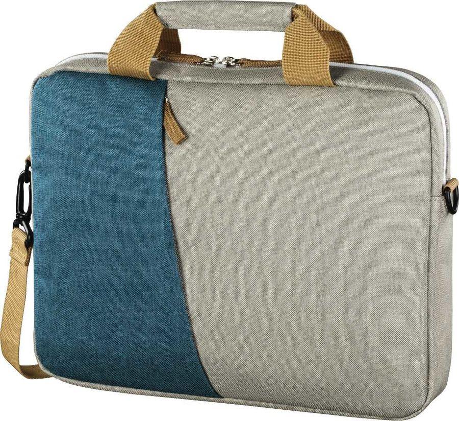 """Сумка для ноутбука 15.6"""" HAMA Florence, серый/голубой [00101573]"""