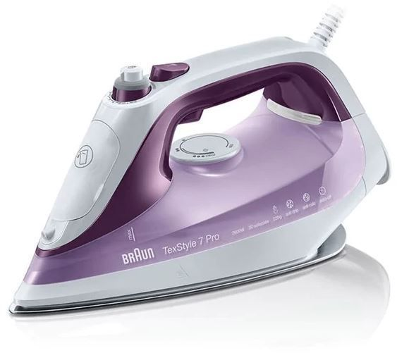 Утюг BRAUN SI7066VI,  2600Вт,  фиолетовый [127403002]