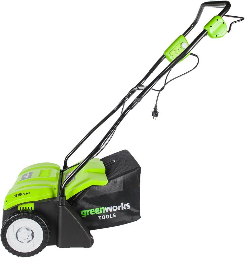 Аэратор Greenworks GDT35 электр. 1100Вт 3200об/мин (2505007)