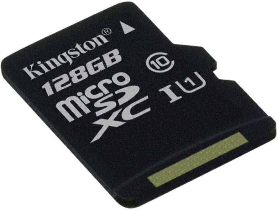 Карта памяти microSDXC UHS-I U1 KINGSTON Canvas Select 128 ГБ, 80 МБ/с, Class 10, SDCS/128GBSP,  1 шт.