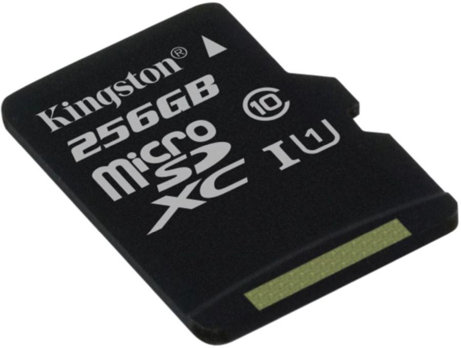Карта памяти microSDXC UHS-I U1 KINGSTON Canvas Select 256 ГБ, 80 МБ/с, Class 10, SDCS/256GBSP,  1 шт.