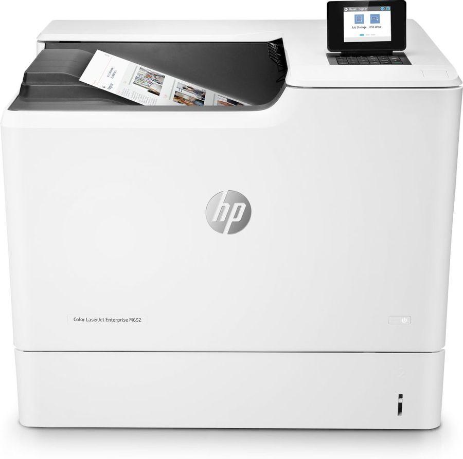 Принтер лазерный HP Color LaserJet Enterprise M652n лазерный, цвет:  белый [j7z98a]