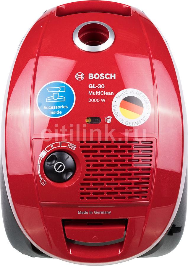 Пылесос BOSCH BSGL3MULT1, 2000Вт, красный