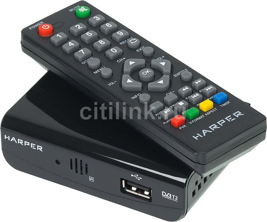 Ресивер DVB-T2 HARPER HDT2-1030,  черный