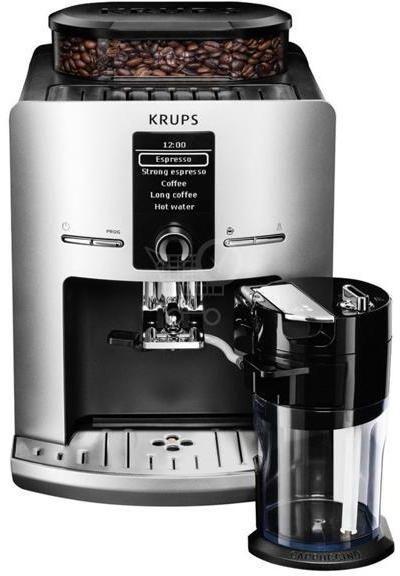 Кофемашина KRUPS EA829E10,  серебристый/черный