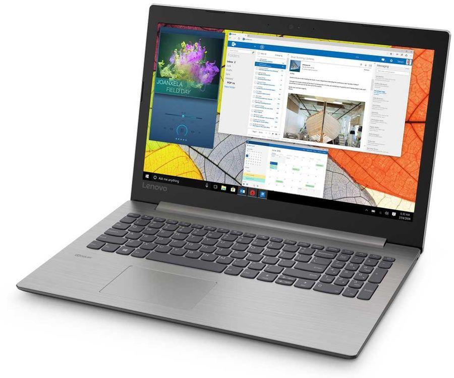 """Ноутбук LENOVO IdeaPad 330-15IKB, 15.6"""",  Intel  Core i3  7020U 2.3ГГц, 8Гб, 256Гб SSD,  Intel HD Graphics  620, Windows 10, 81DE02Q8RU,  серый"""
