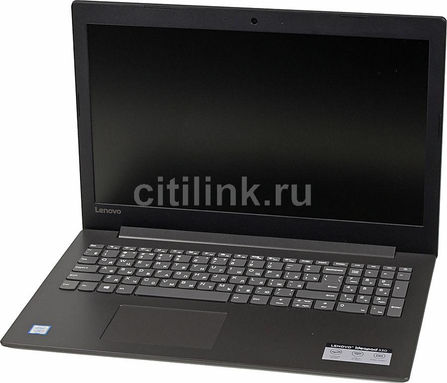 "Ноутбук LENOVO IdeaPad 330-15IKB, 15.6"",  Intel  Core i3  7020U 2.3ГГц, 4Гб, 128Гб SSD,  Intel HD Graphics  620, Windows 10, 81DE01DTRU,  черный"