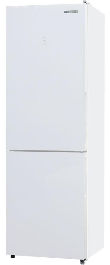 Холодильник KENWOOD KBM-1855NFDGW,  двухкамерный, белое стекло