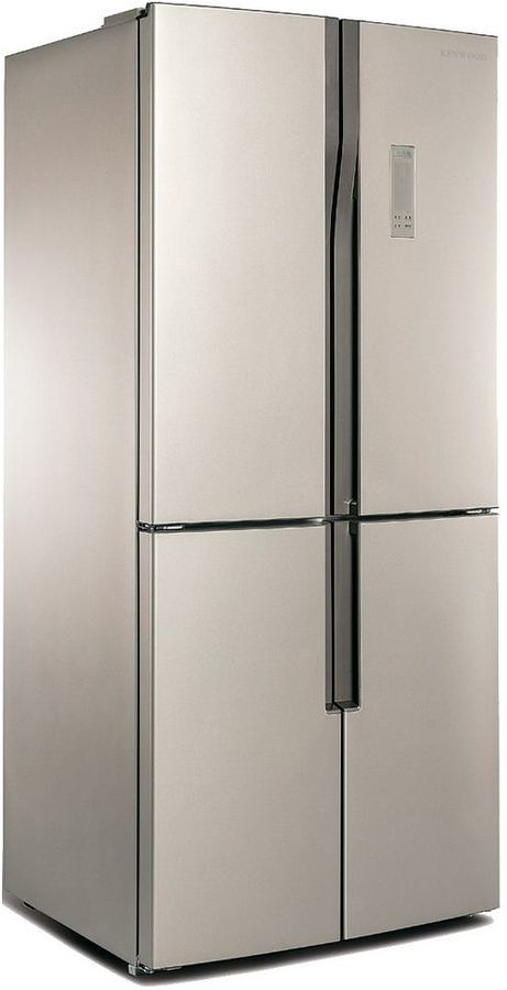 Холодильник KENWOOD KMD-1815GBE,  трехкамерный, бежевый стекло